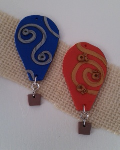 fimo hot air ballon pendants