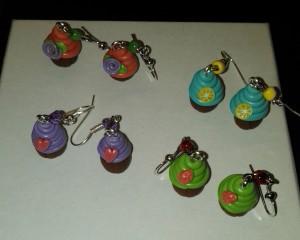 polymer cupcake charms