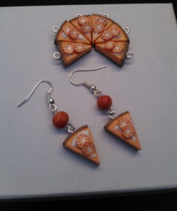 polymer orange tarte charms