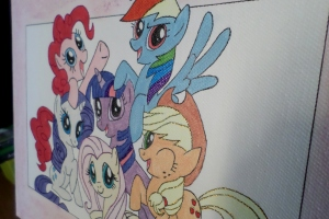 my little pony girly canvas 2