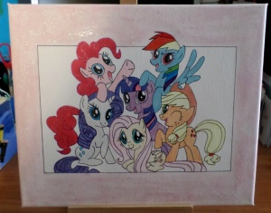 my little pony girly canvas