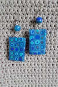 polymer cane earring 1