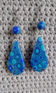 polymer cane earring 2