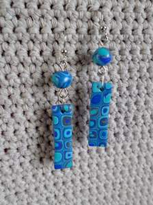 polymer cane earring 5