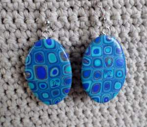 polymer cane earrings 3