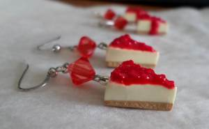 polymer cheesecake earrings 2