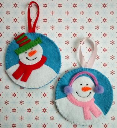 felt-snowmen