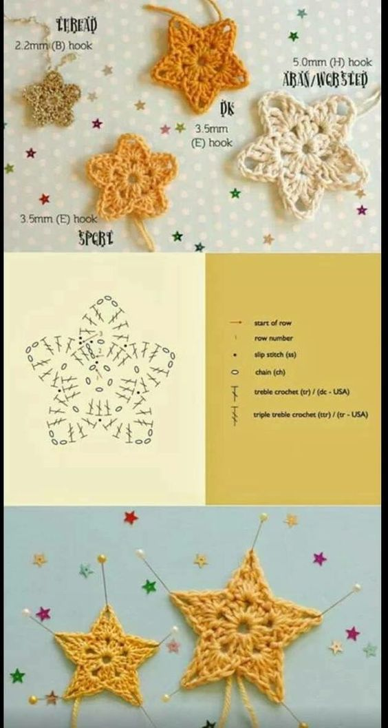 crochet star diagram